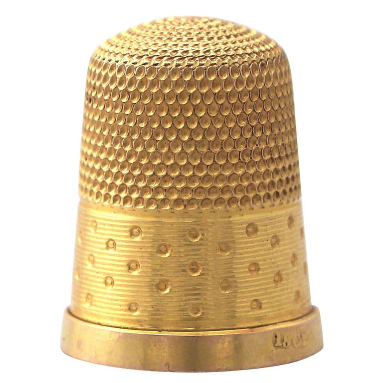 15 Carat Yellow Gold Thimble, Antique, circa 1890