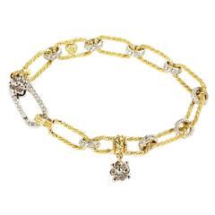 Stambolian Diamond Gold Link Bracelet