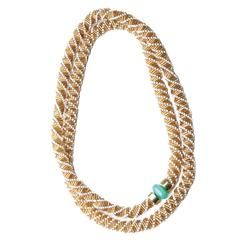 Fouche Chrysoprase Bead Rope Necklace