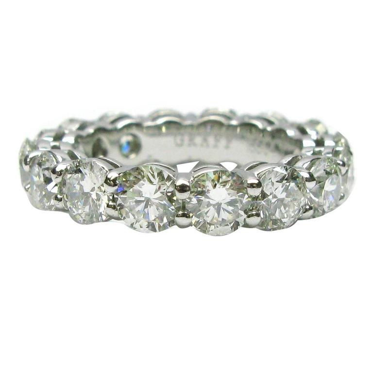Graff 4.80 Carats Diamonds Platinum Eternity Band Ring