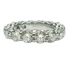 Graff 4.80 Carats Diamonds Platinum Eternity Band Ring