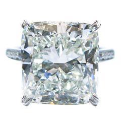 Graff 9.34 Carat GIA Cert Cushion Diamond Platinum Ring