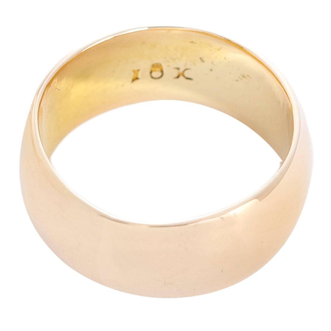 beautiful gold wide band ring at 1stdibs