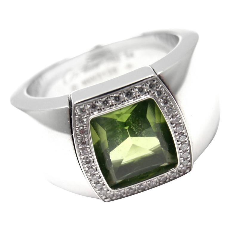 Cartier La Dona Peridot Diamond Gold Band Ring