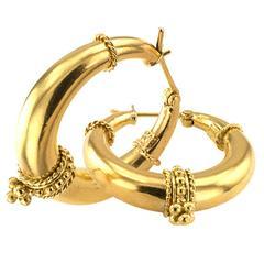 Temple St. Clair Gold Hoop Earrings