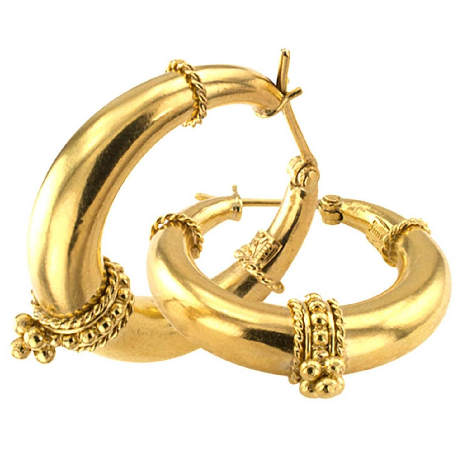 hoop earrings for sale temple st clair gold hoop earrings for sale at 1stdibs 9570