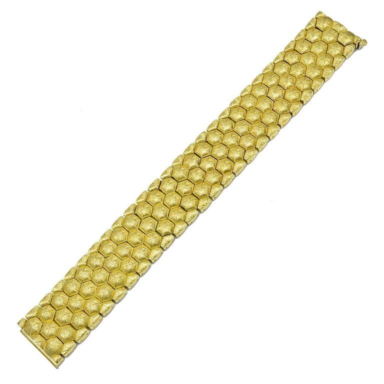 Chic Henry Dunay Sabi Gold Honeycomb Bracelet