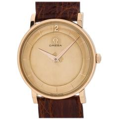 Omega Rose Gold Dress Wristwatch