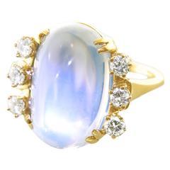 F. & F. Felger Art Deco Moonstone Gold Ring Set