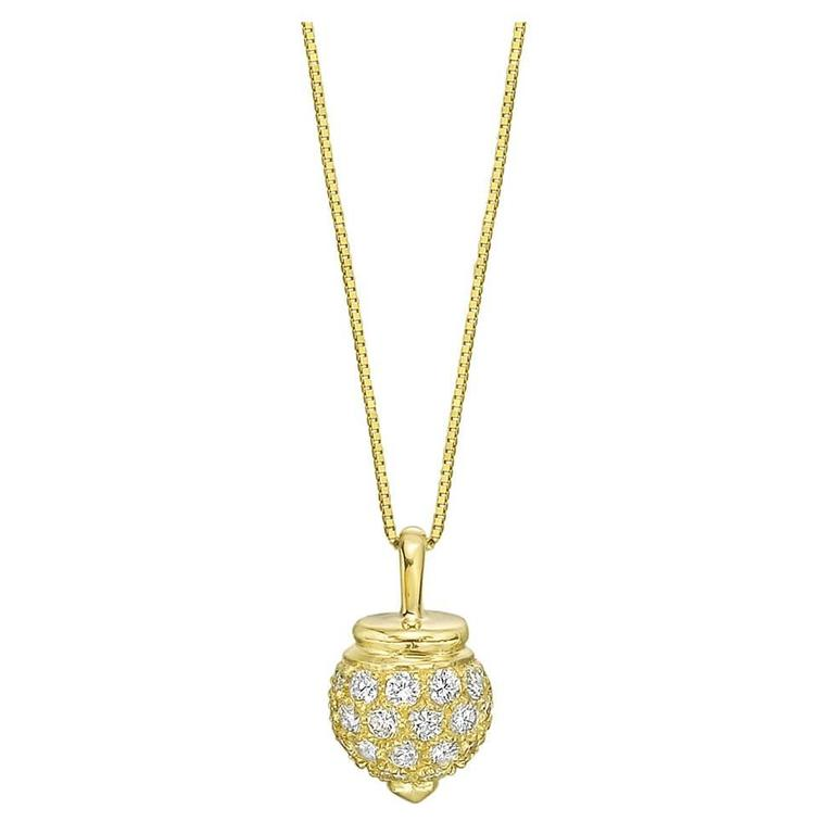 Diamond Gold Drop Pendant
