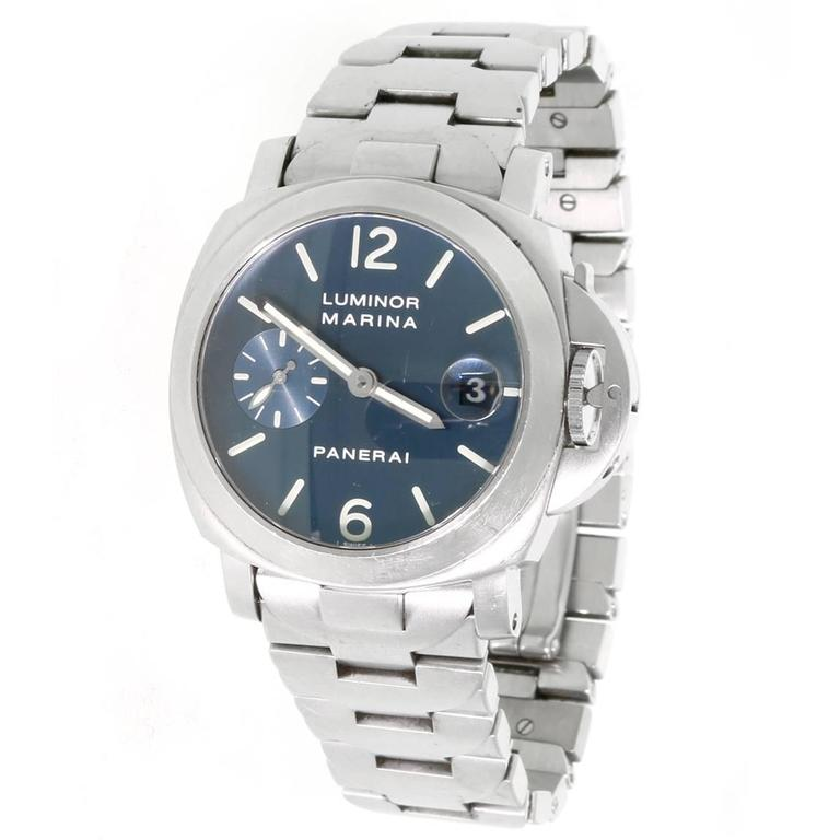 Panerai Stainless Steel Luminor Wristwatch For Sale at 1stdibs 84404d961568