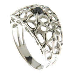 Sterling Silver Web Ring