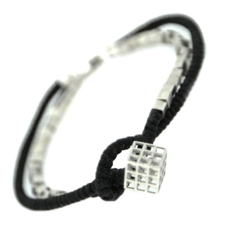 Bitcoin Blockchain Silver Wrap Bracelet