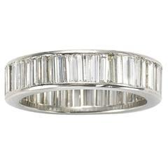 Baguette Diamonds Platinum Eternity Ring