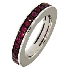 Jona 18 Karat White Gold Ruby Band Ring