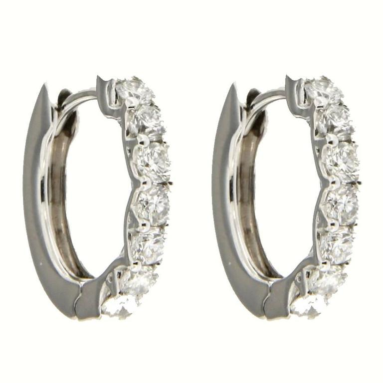 Jona Diamond Gold Hoop Earrings