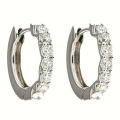 Jona Diamond Gold Hoop Earrings