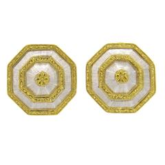 Buccellati Gold Octagonal Earrings