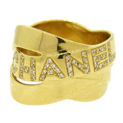 Chanel Diamond Gold Band Ring