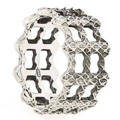Singularity Molecule Three-Band Sterling Silver Ring