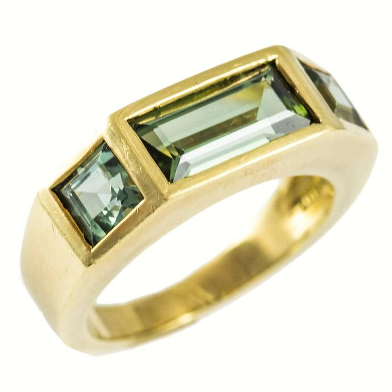 Tiffany And Co Paloma Picasso Green Tourmaline Gold Ring At 1stdibs