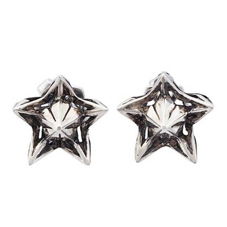 John Brevard Nova Wrap Silver Stud Earrings