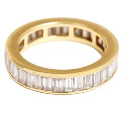 Beautiful Diamond Gold Eternity Band Ring