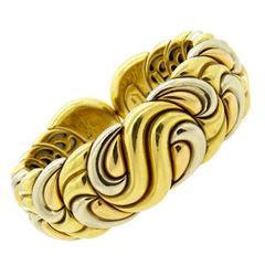 Massive Chopard Casmir Gold Cuff Bracelet
