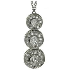 Tiffany & Co. Circlet Diamond Platinum Pendant Necklace