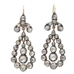 Antique Georgian Diamond Earrings