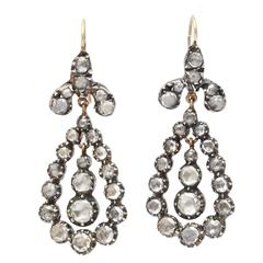 Sumptuous Georgian Diamond Earrings