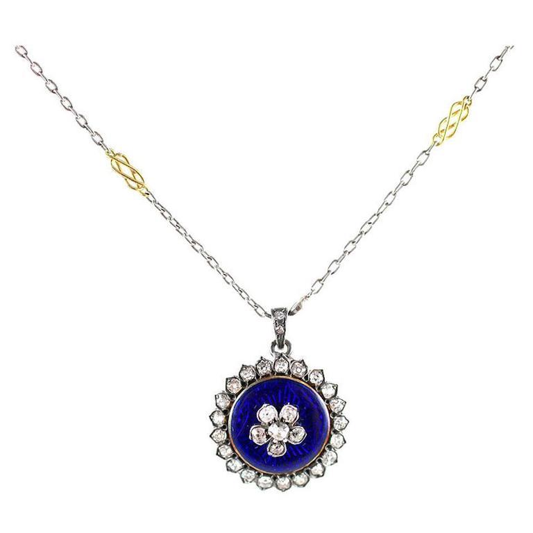 Think of Me Enamel Diamond Pendant