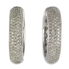New Diamond Gold Hoop Earrings