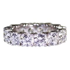 Graff 7.44 Carat Diamond Platinum Eternity Band Ring