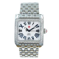 Michele Watch MW2 Lady's Stainless Steel Diamond Bezel Wristwatch