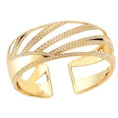 Sunray Miseno Diamond Gold Cuff Bracelet