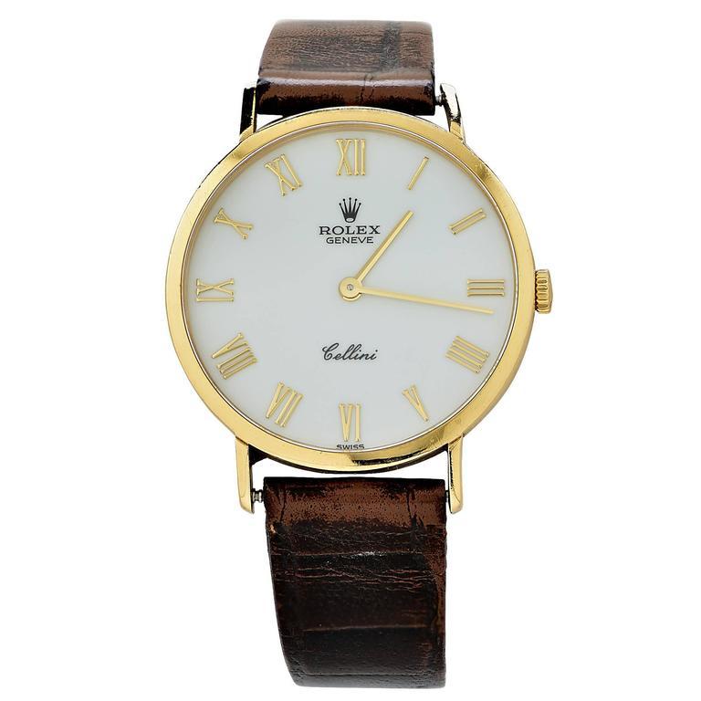 Rolex Yellow Gold Cellini Classic Wristwatch 1