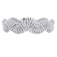 Miseno Ventaglio Diamond Gold Bracelet
