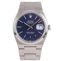Rolex Stainless Steel Oyster Quartz Color Change Dial Wristwatch Ref 1700