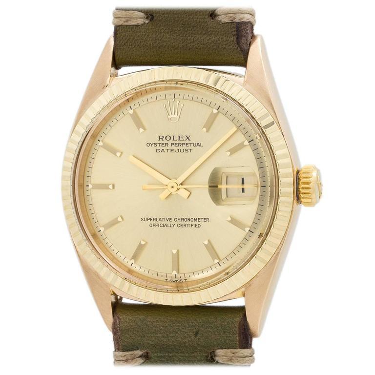Rolex Yellow Gold Datejust Wristwatch Ref 1601 1