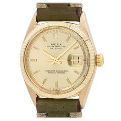 Rolex Yellow Gold Datejust Wristwatch Ref 1601