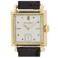 IWC Yellow Gold Square Dress Wristwatch