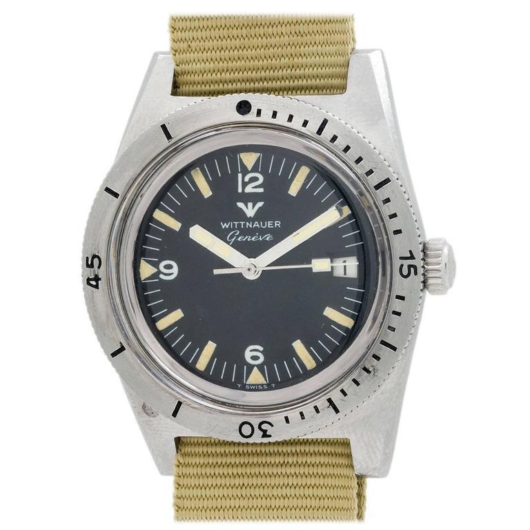 Wittnauer Stainless Steel Geneva Diver's Model Wristwatch
