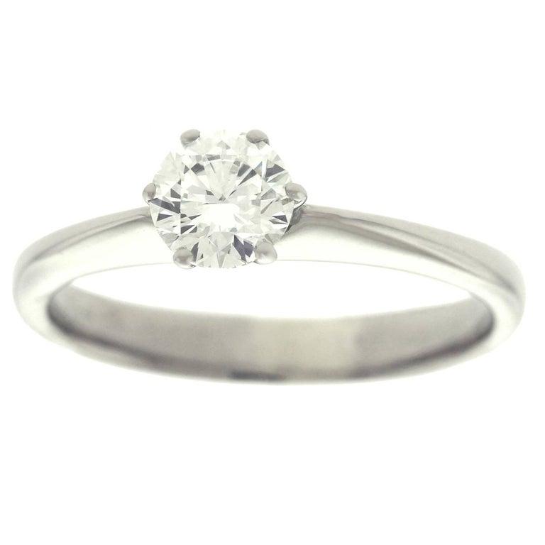 .50ct Diamond Set Platinum Engagement Ring GIA For Sale