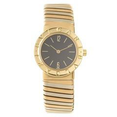 Bulgari Ladies Tricolor Gold Tubogas Quartz Wristwatch