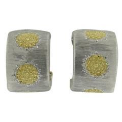 Buccellati Geminato Silver Gold Hoop Earrings