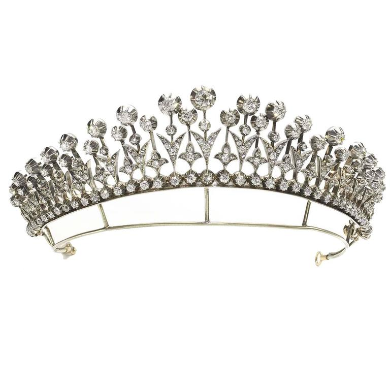 Diamond Tiara Necklace  For Sale