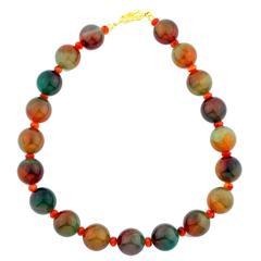 Multi-Color Brilliant Jade Necklace
