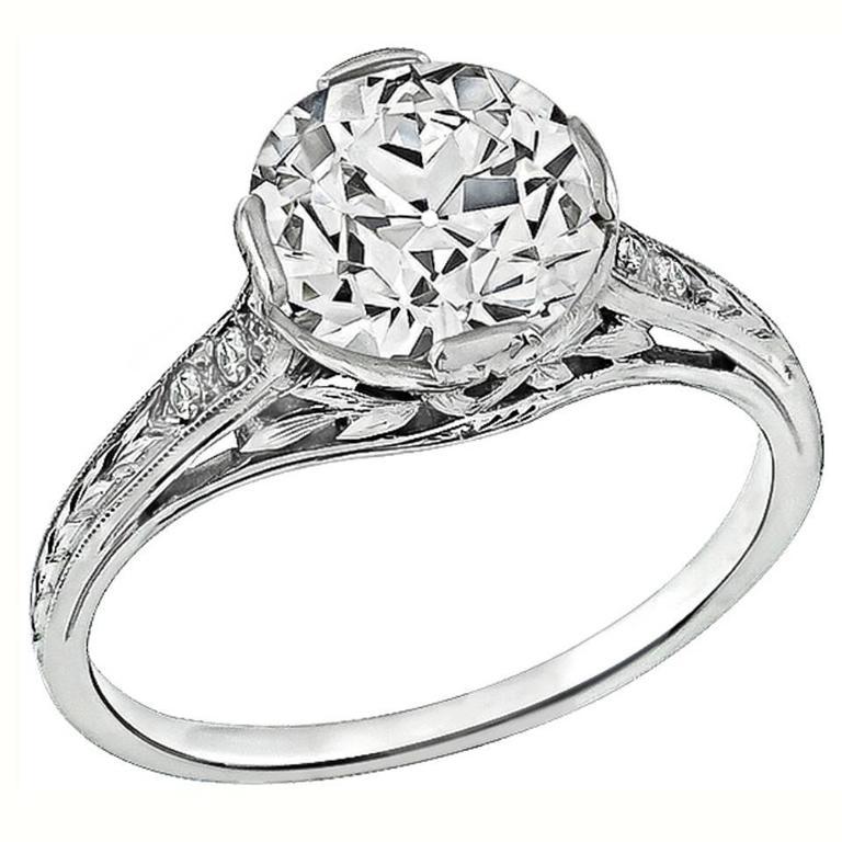 Amazing 2.05 Carat Diamond Platinum Engagement Ring