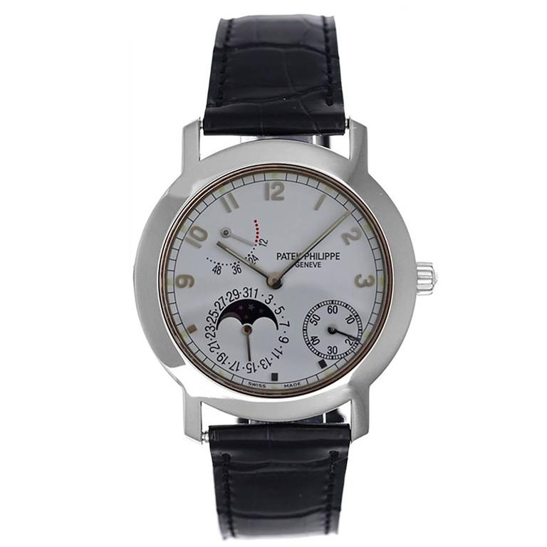 Patek Philippe White Gold Annual Calendar Automatic Wristwatch